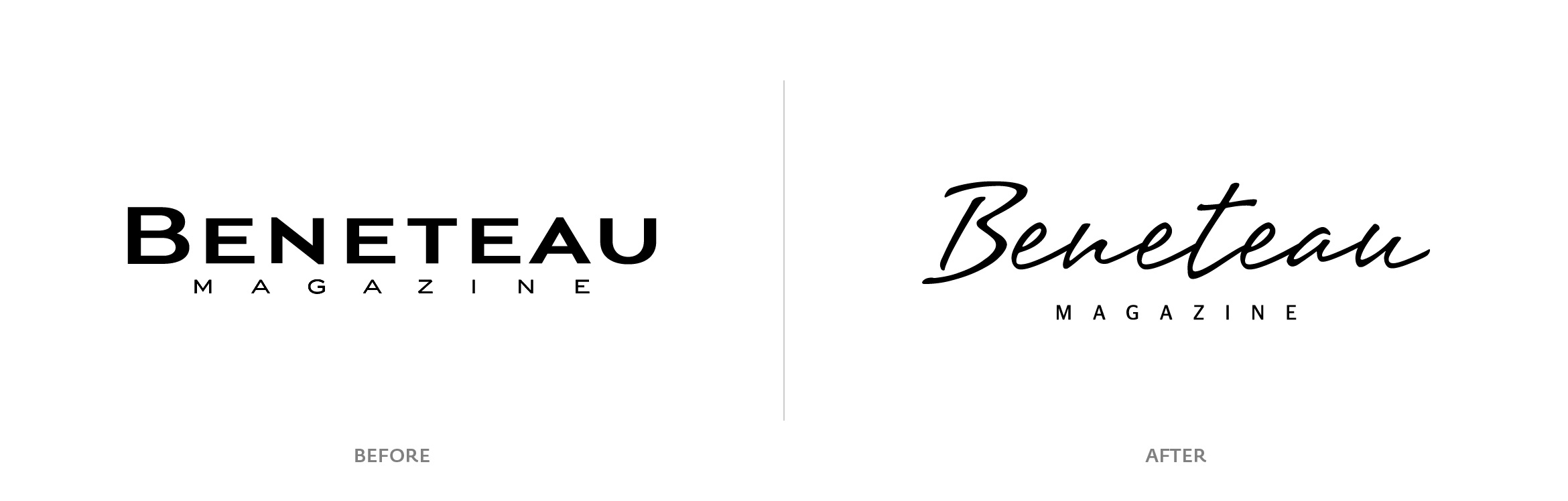 Logo before after