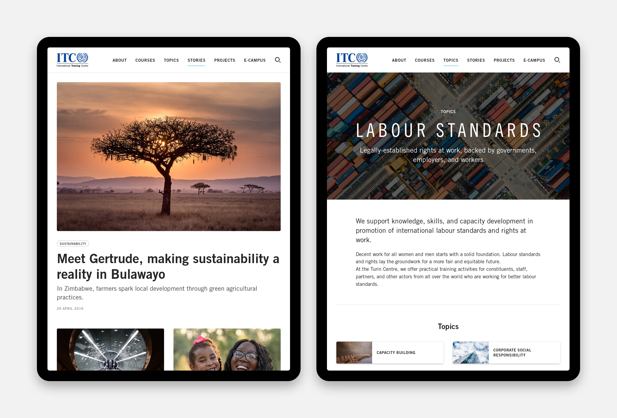 News and topic on tablet