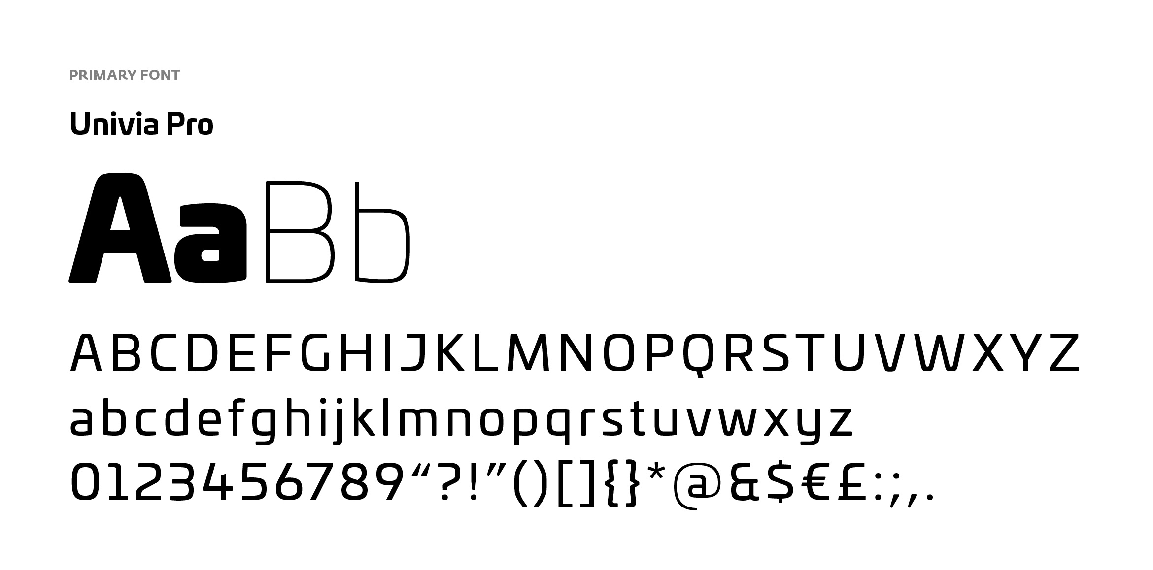 Primary font