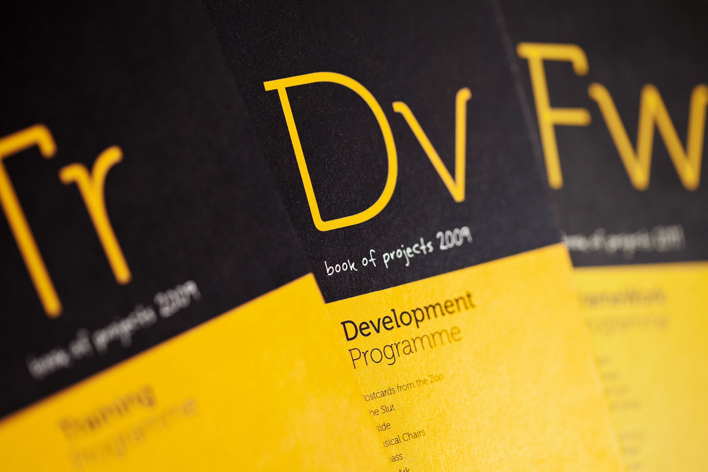 Books of projects covers detail